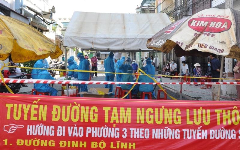 Tiền Giang tiếp tục áp dụng Chỉ thị 16 ở 3 huyện, thành phố - Ảnh 1.