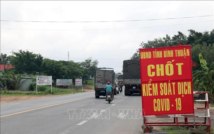 Bình Thuận dừng hoạt động các chốt kiểm soát dịch COVID-19 liên ngành